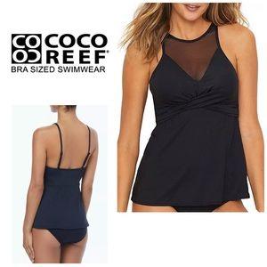 Coco Reef high neck mesh tankini top. NWT